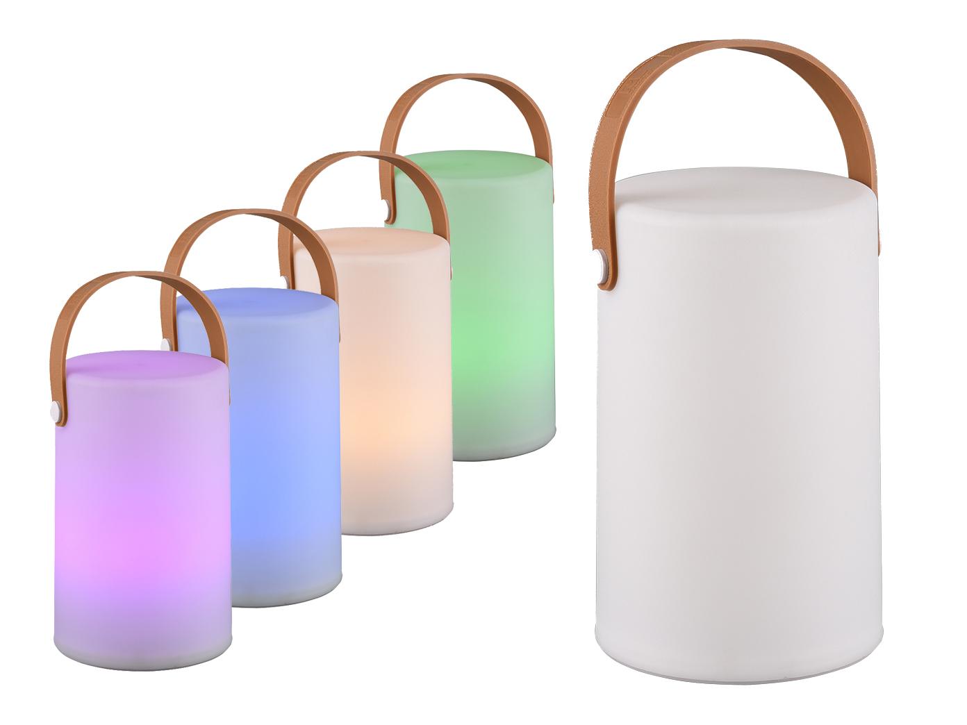 2 LED OUTDOOR Akku Tischlampen mit Farbwechsel