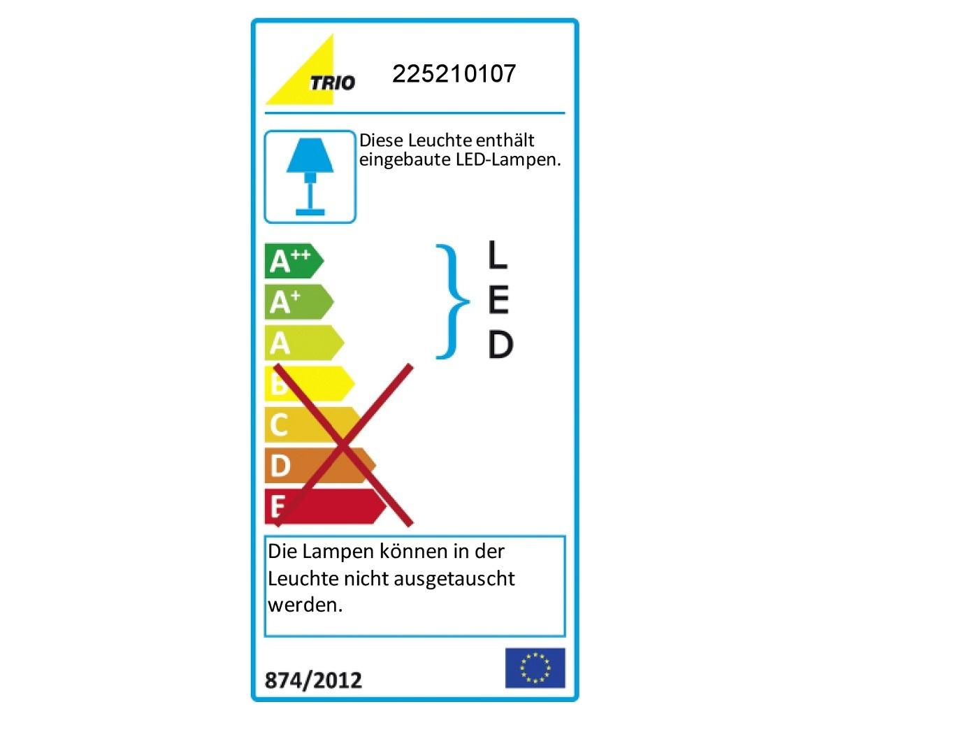 TRIO LED-Bilderleuchte//Wandleuchte Länge 45cm Nickel 1 x 8W SMD-LED