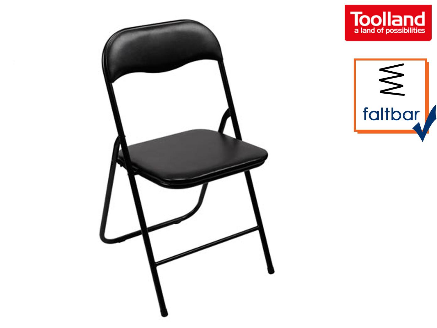 Klappstuhl Kaufen.Gepolsterter Klappstuhl Schwarz Faltbarer Stuhl Campingstuhl Terrassenmöbel