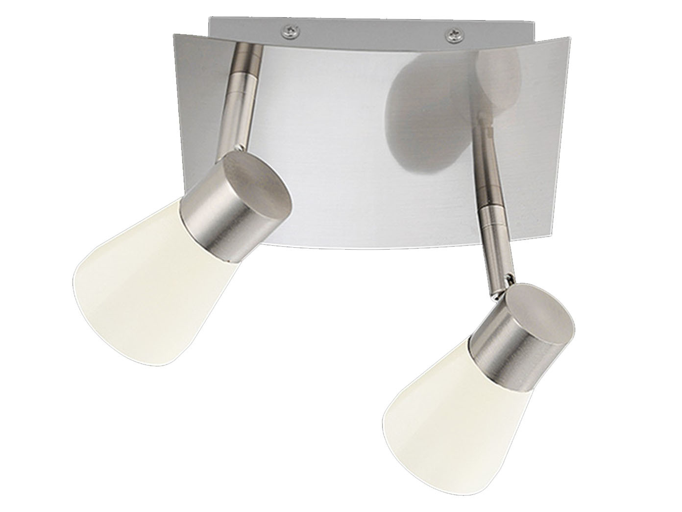 Deckenstrahler 2flammig Viereckig Lampenschirme Metall Weiss Spots