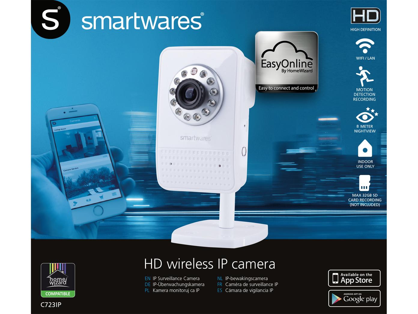 WiFi Kamera, Handy-App, bis 4 User, Bewegungserkennung ...