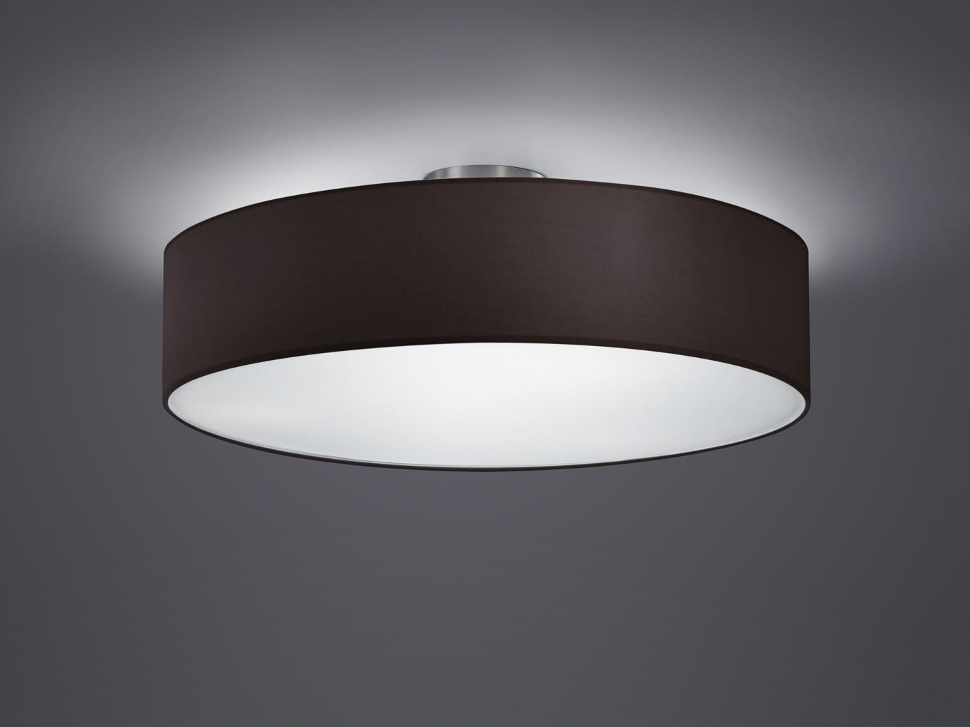 trio design deckenleuchte rund 50cm stoff schirm schwarz. Black Bedroom Furniture Sets. Home Design Ideas