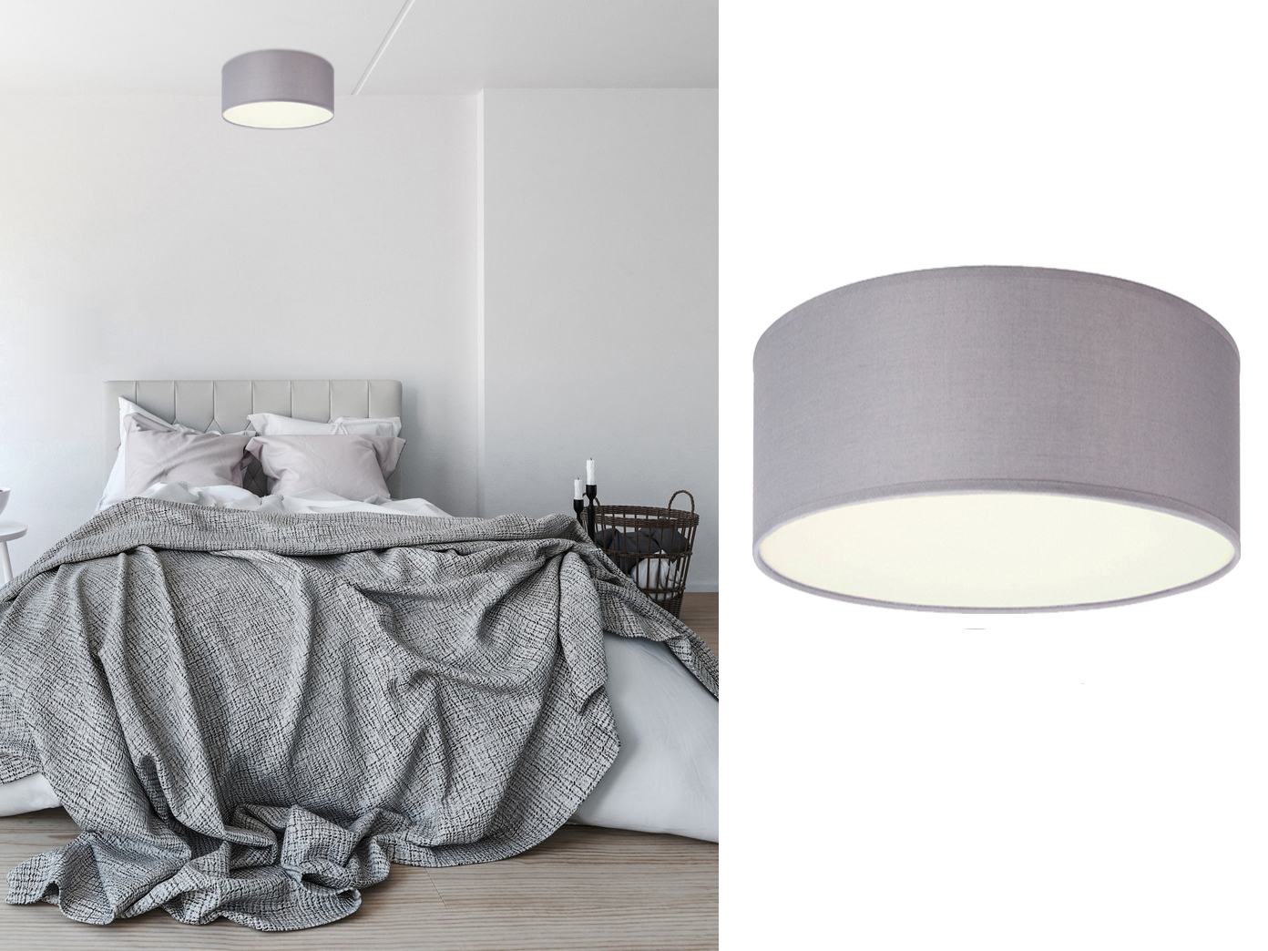 design deckenleuchte ceiling dream rund 20 cm stoff. Black Bedroom Furniture Sets. Home Design Ideas
