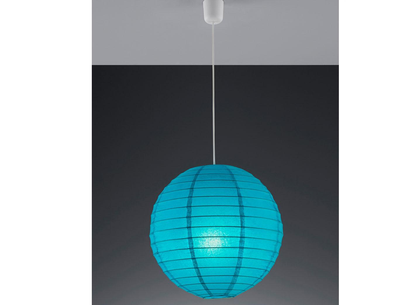 Trio Lampenschirm Japan-Kugel PAPER Papier blau Ø 40cm Pendelleuchte Lampion