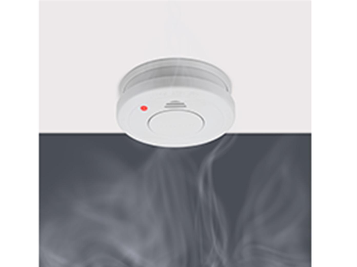 Rauchmelder mit 5 Jahres Batterie 85dB Alarmton für zuverlässigen Brandschutz