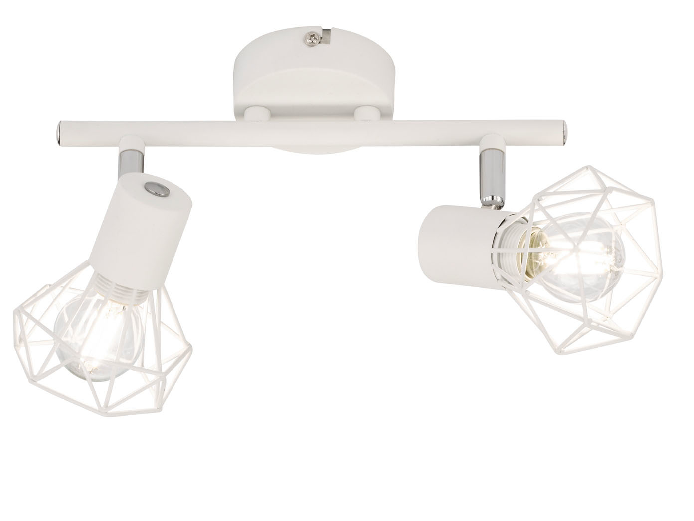 2flammige Led Deckenleuchte Lampenschirme Metall Weiss