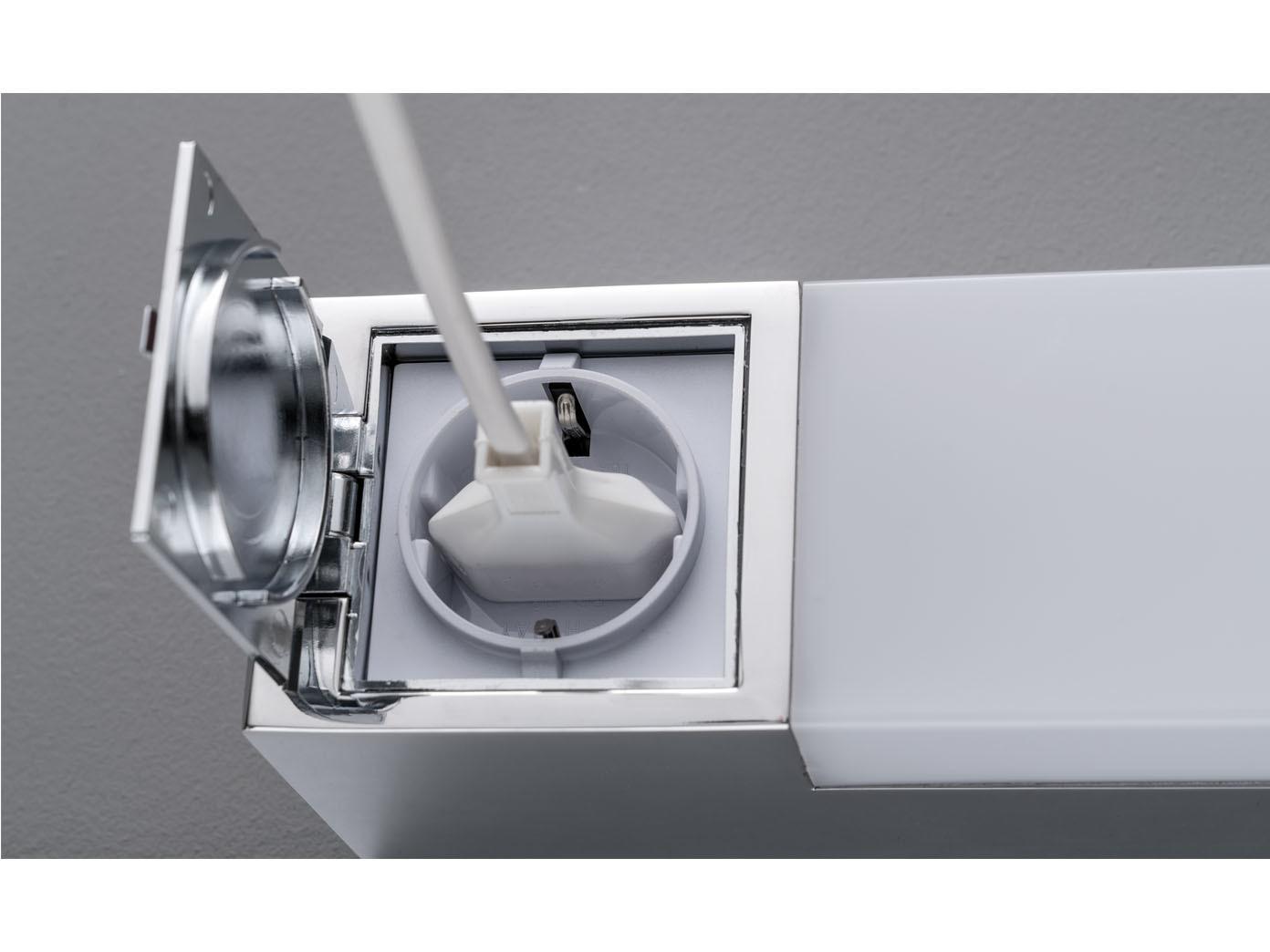 LED Wandlampe mit Steckdose fürs Bad   Spiegelleuchte & Badlampe über  Badspiegel