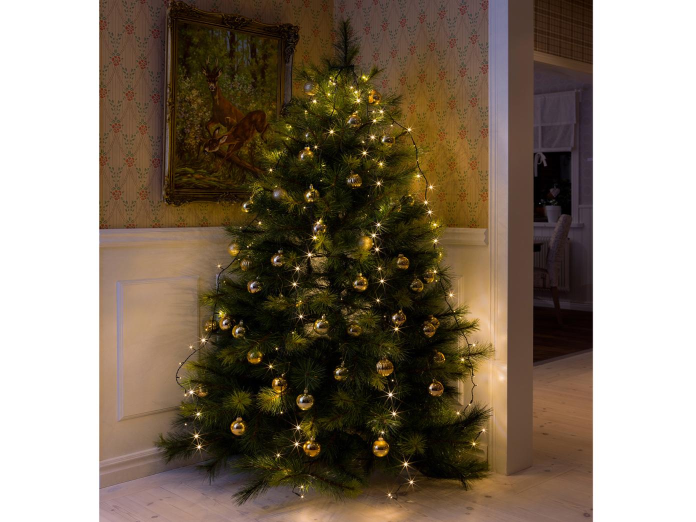 Weihnachtsbaum Mit Beleuchtung.Lichterkette Für Innen 150 Led S 6h Timer Weihnachtsbaum Beleuchtung Christbaum