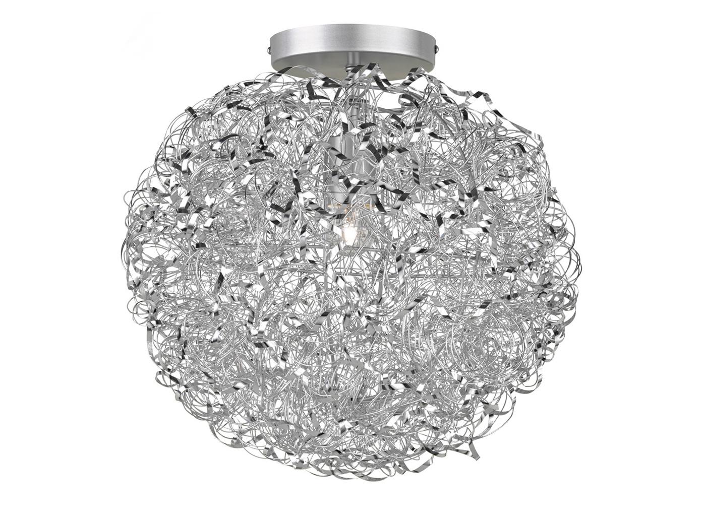 Design Deckenleuchte Kugelform Ø 40cm Silber E27, Deckenbeleuchtung ...