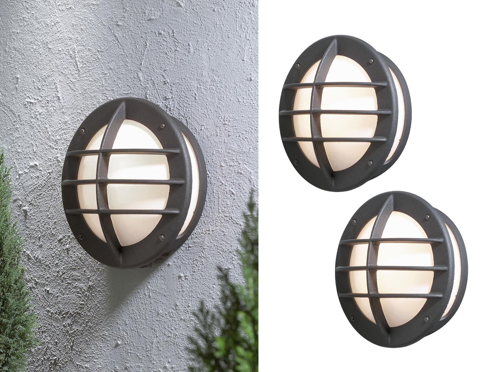 Konstsmide Außenwandleuchte 31cm Wandlampe schwarz Beleuchtung Haus Terrasse