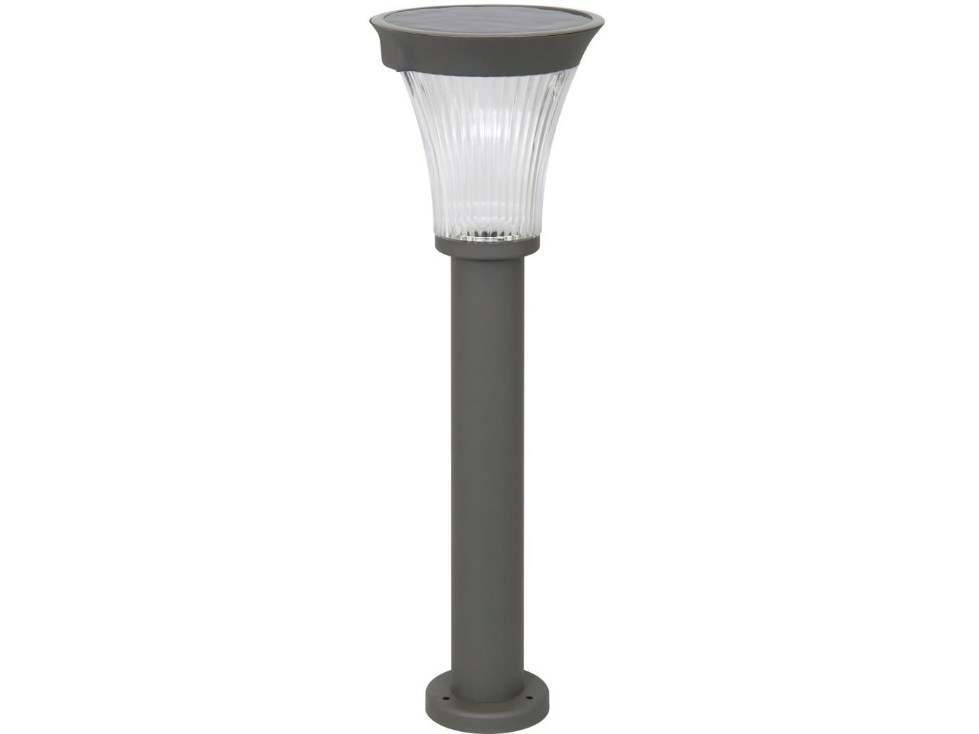 LED Solarleuchte mit Fuß, Edelstahl schwarz, Leuchtkraft bis 180 Lumen Lumen Lumen a62951
