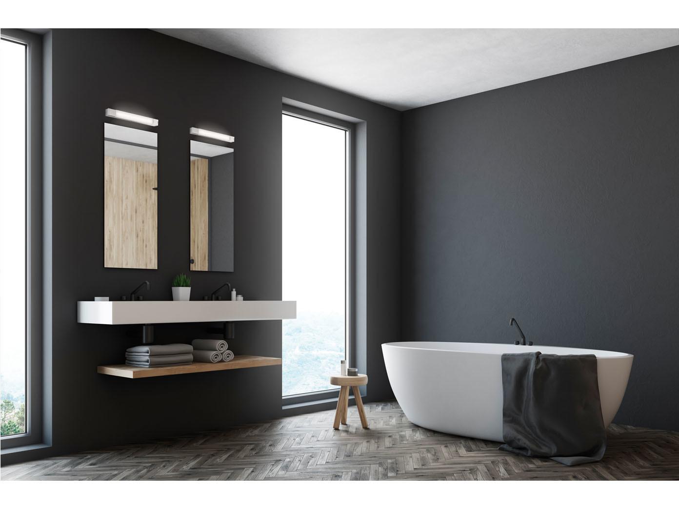 LED Badezimmer Wandlampenset, Spiegelleuchten 60cm mit Steckdose ...