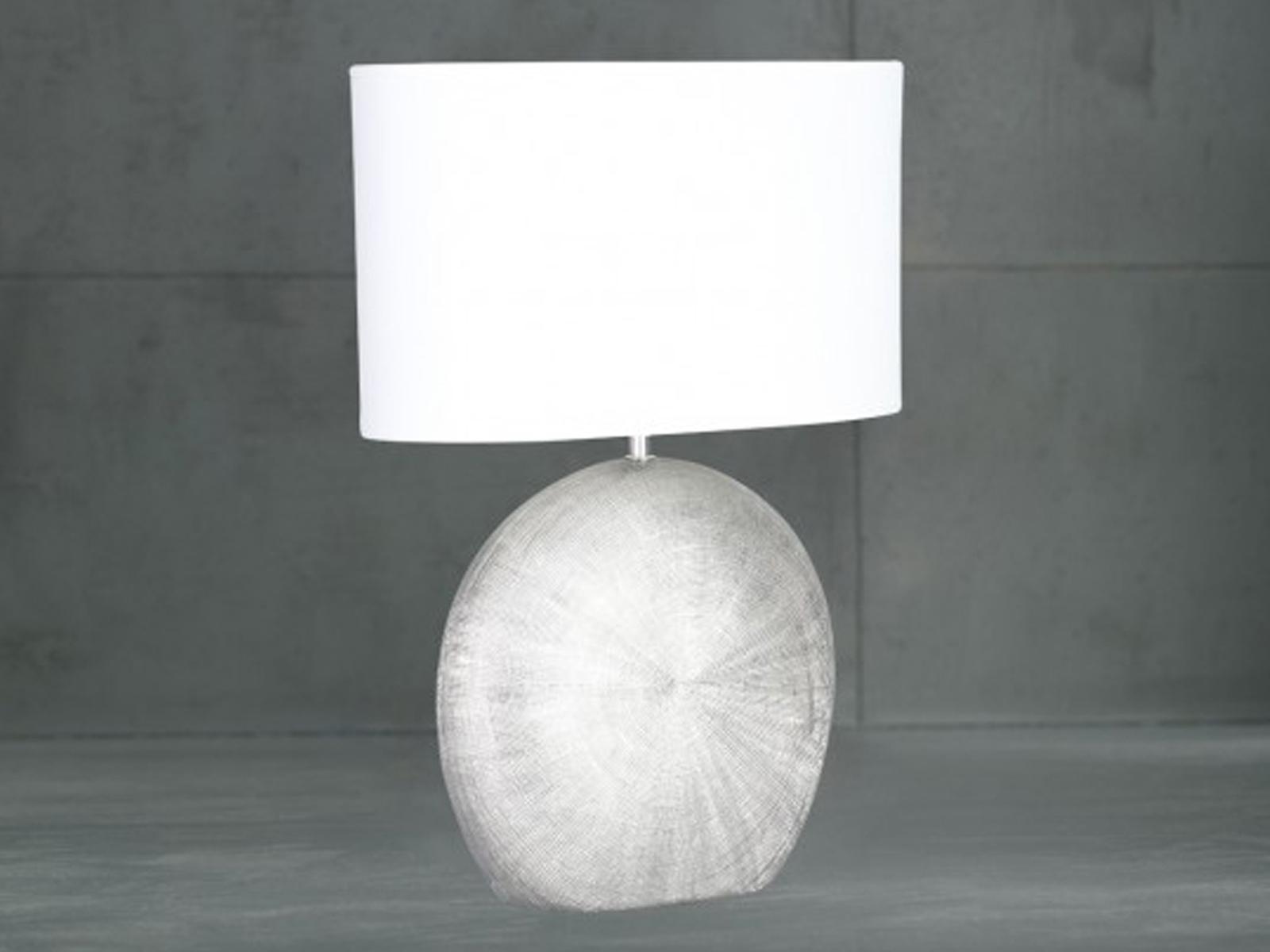 E14 H Keramik /& Stoff 37cm Tischlampe LEGEND braun Tischleuchten Lampen