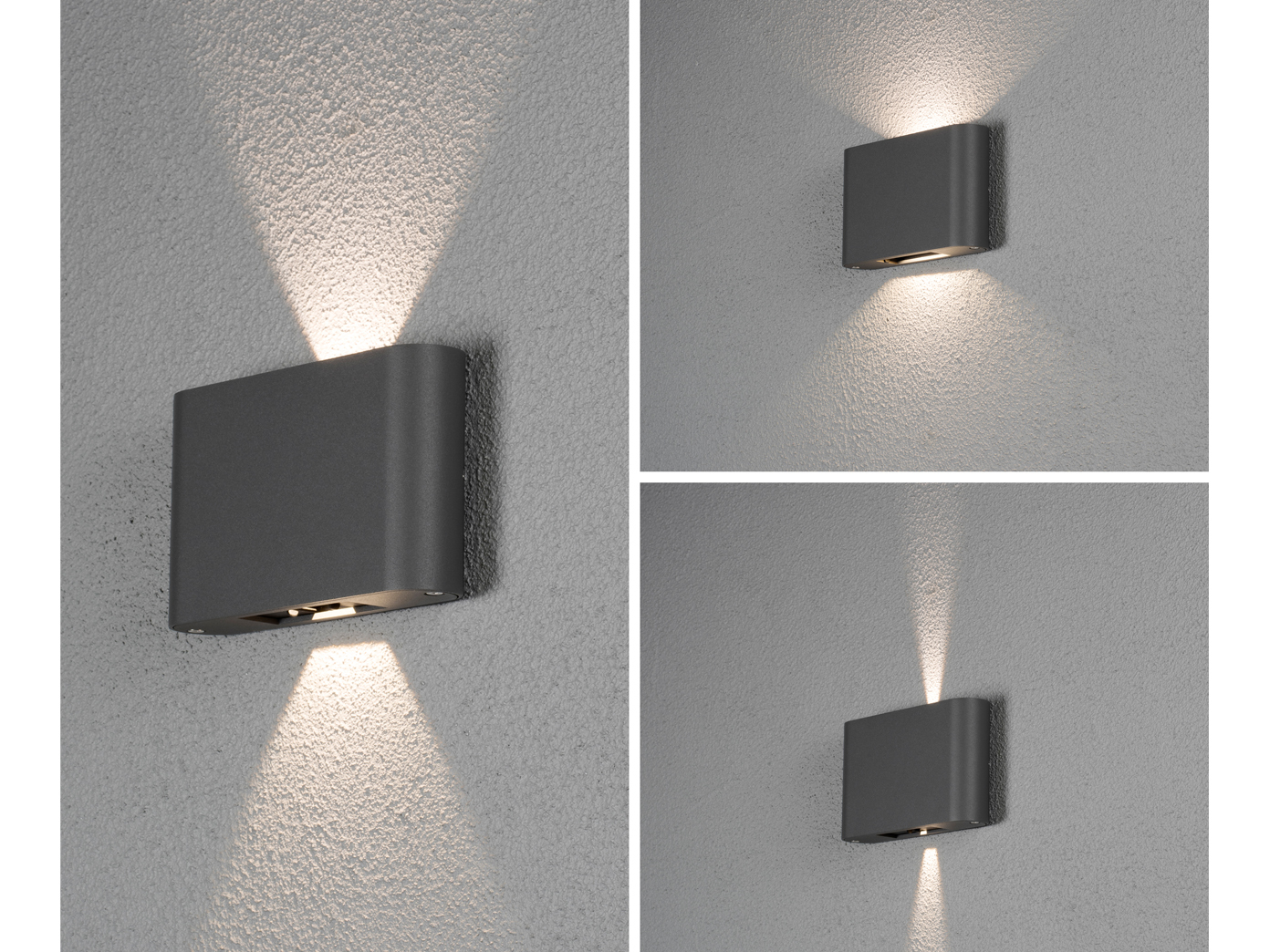 Extrem Flache LED Außenleuchte Anthrazit Up & Down 12W IP54 JT59