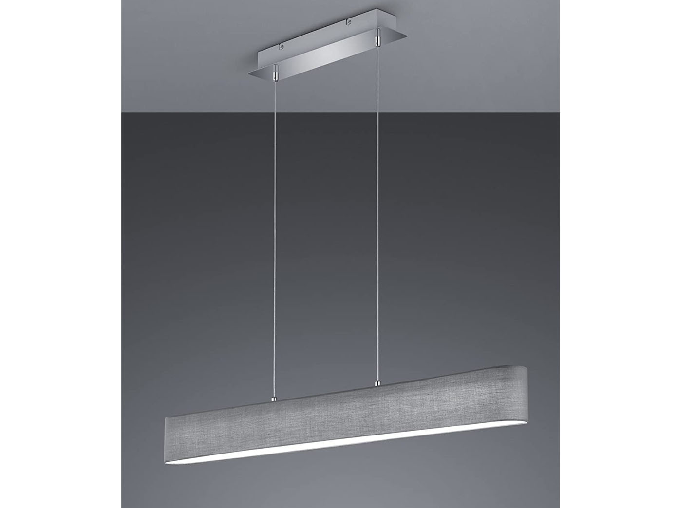 Trio stoffschirm led pendelleuchte lugano dimmbar lampe for Pendelleuchte stoffschirm