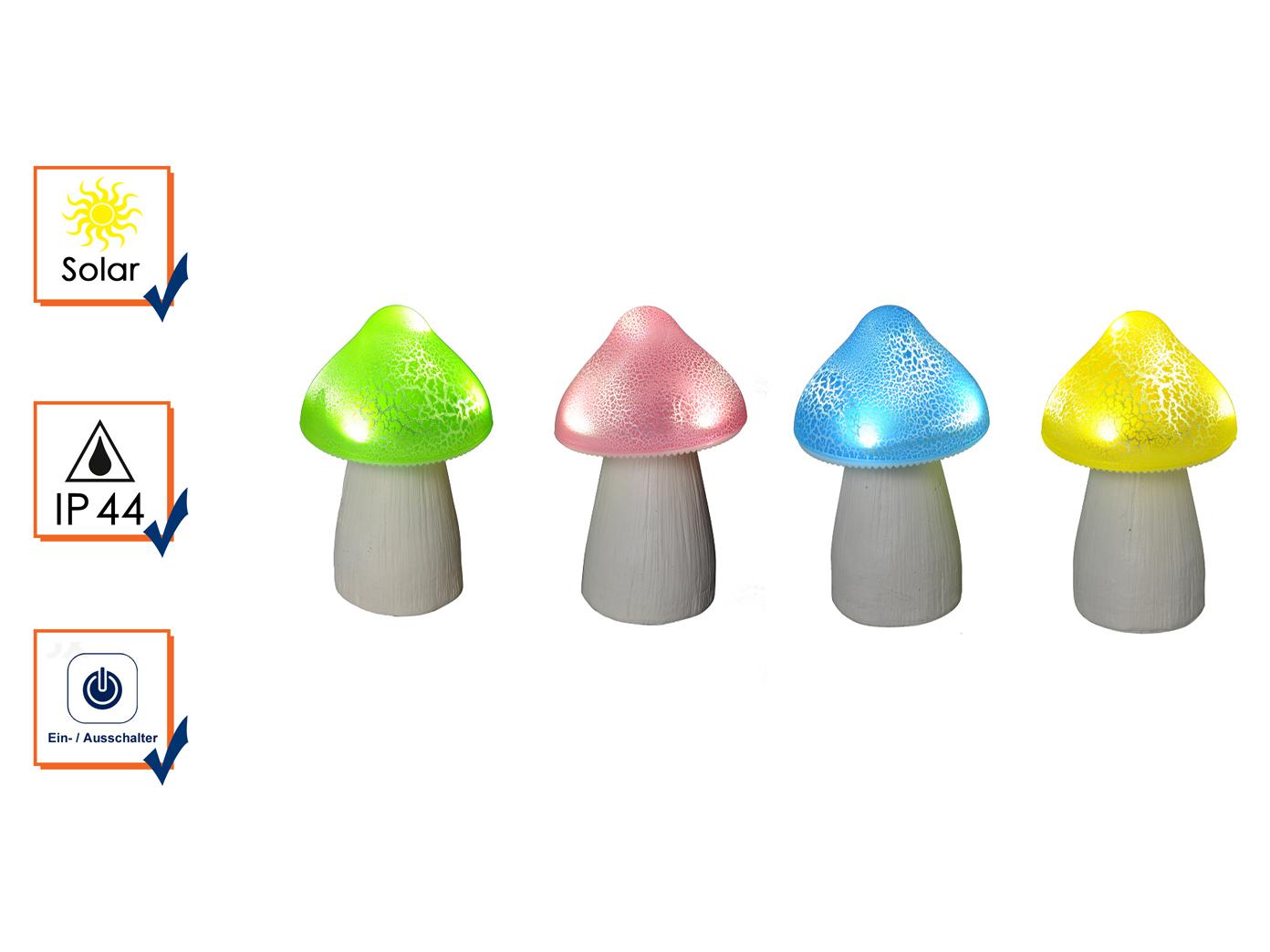 Solarfiguren Solarfiguren Solarfiguren im 4er SET - Gartedeko LED Pilze für draußen, IP44 geschützt, bunt 5c7c2f