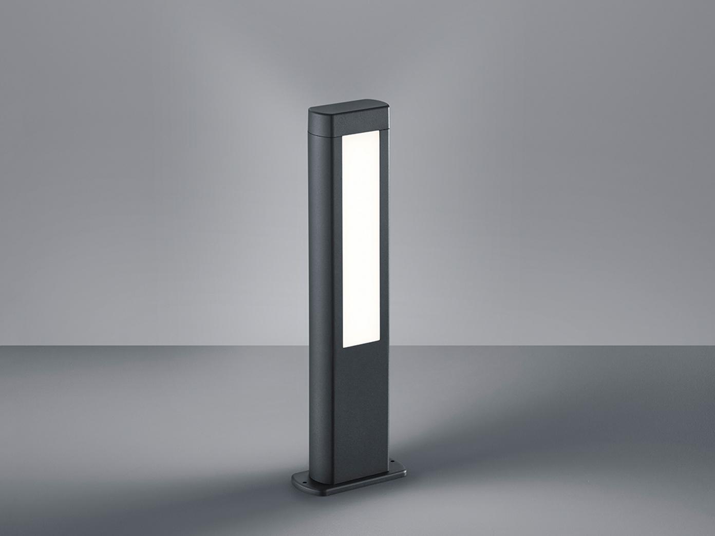 LED Außenbeleuchtung - RHINE Pfostenleuchte Pfostenleuchte Pfostenleuchte aus Aluminiumguss in Anthrazit, IP54 3620b4