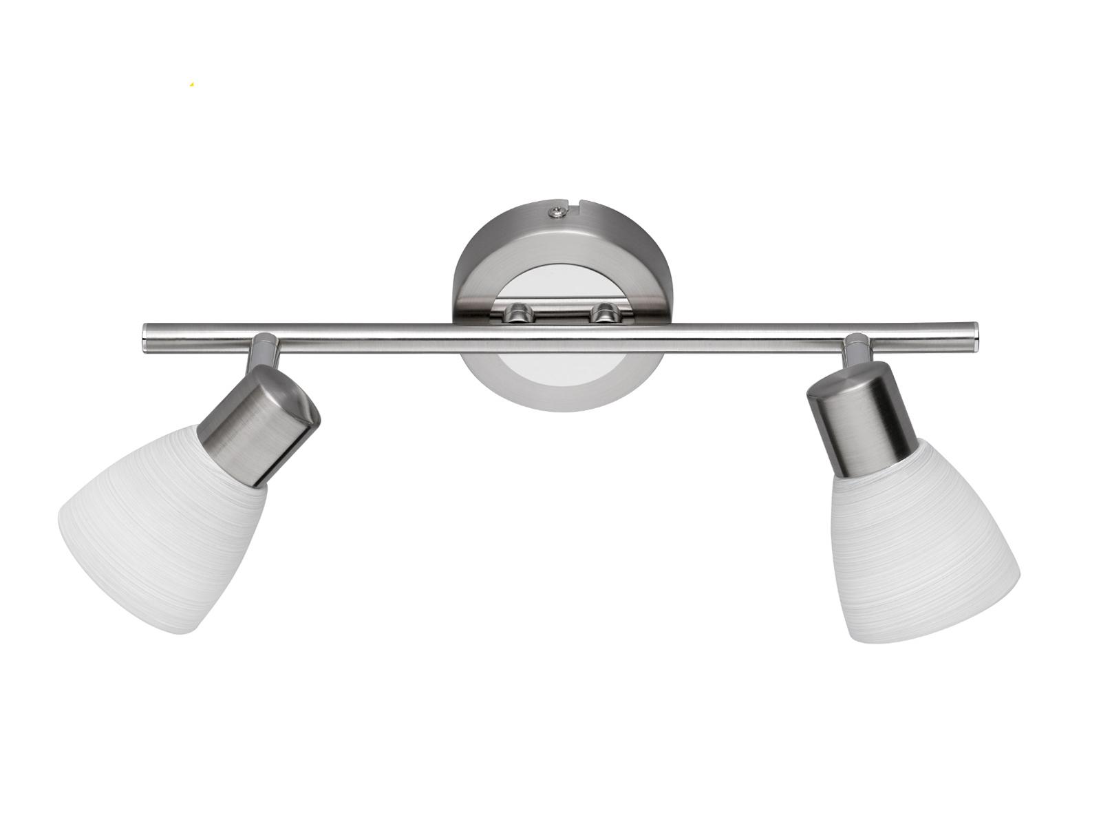 LED Wandleuchte Wandspot CARICO Nickel matt Glas weiß