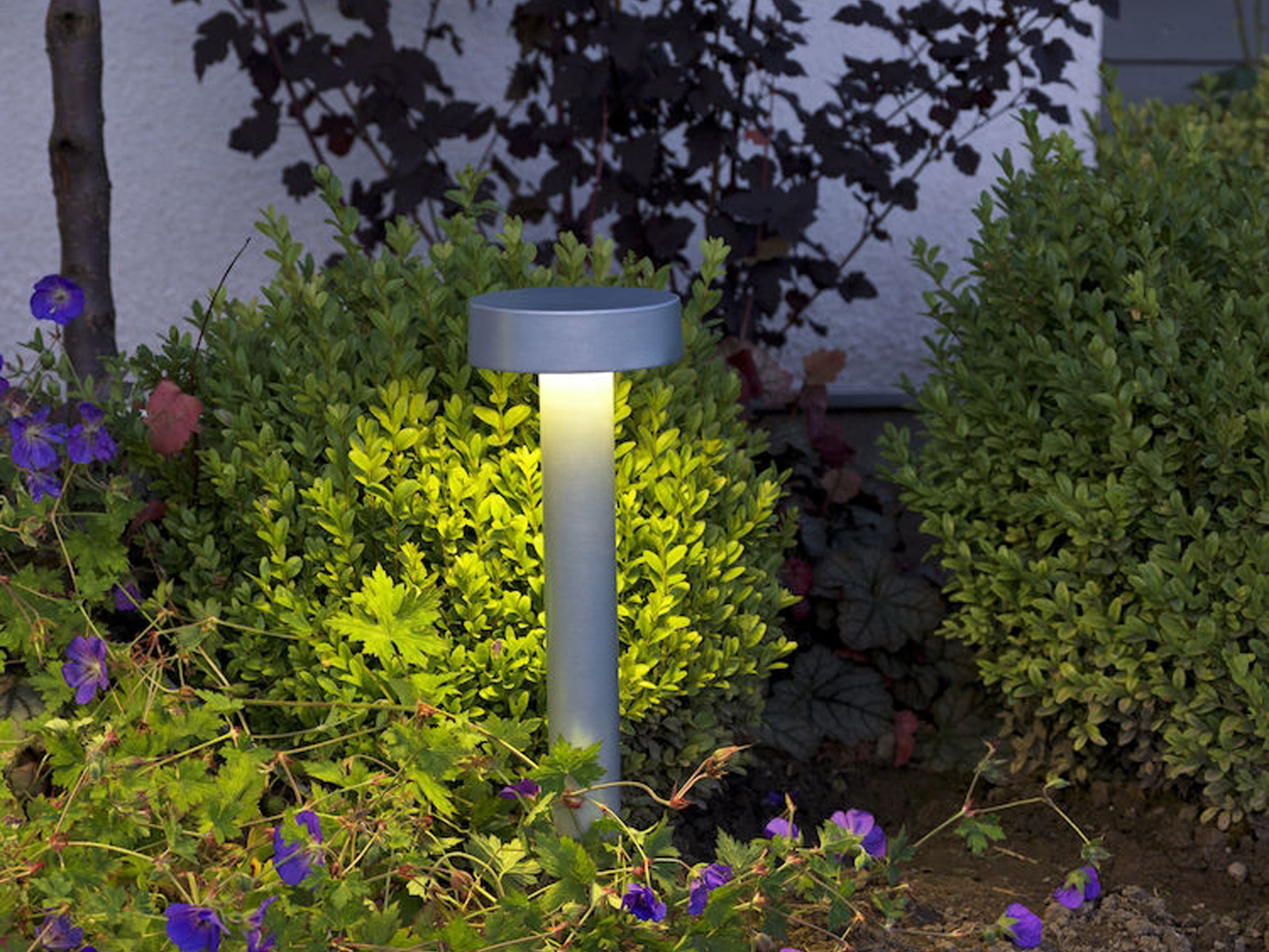 Extrem LED Wegeleuchte Sockelleuchte PESARO 50cm, Beleuchtung Garten YY06