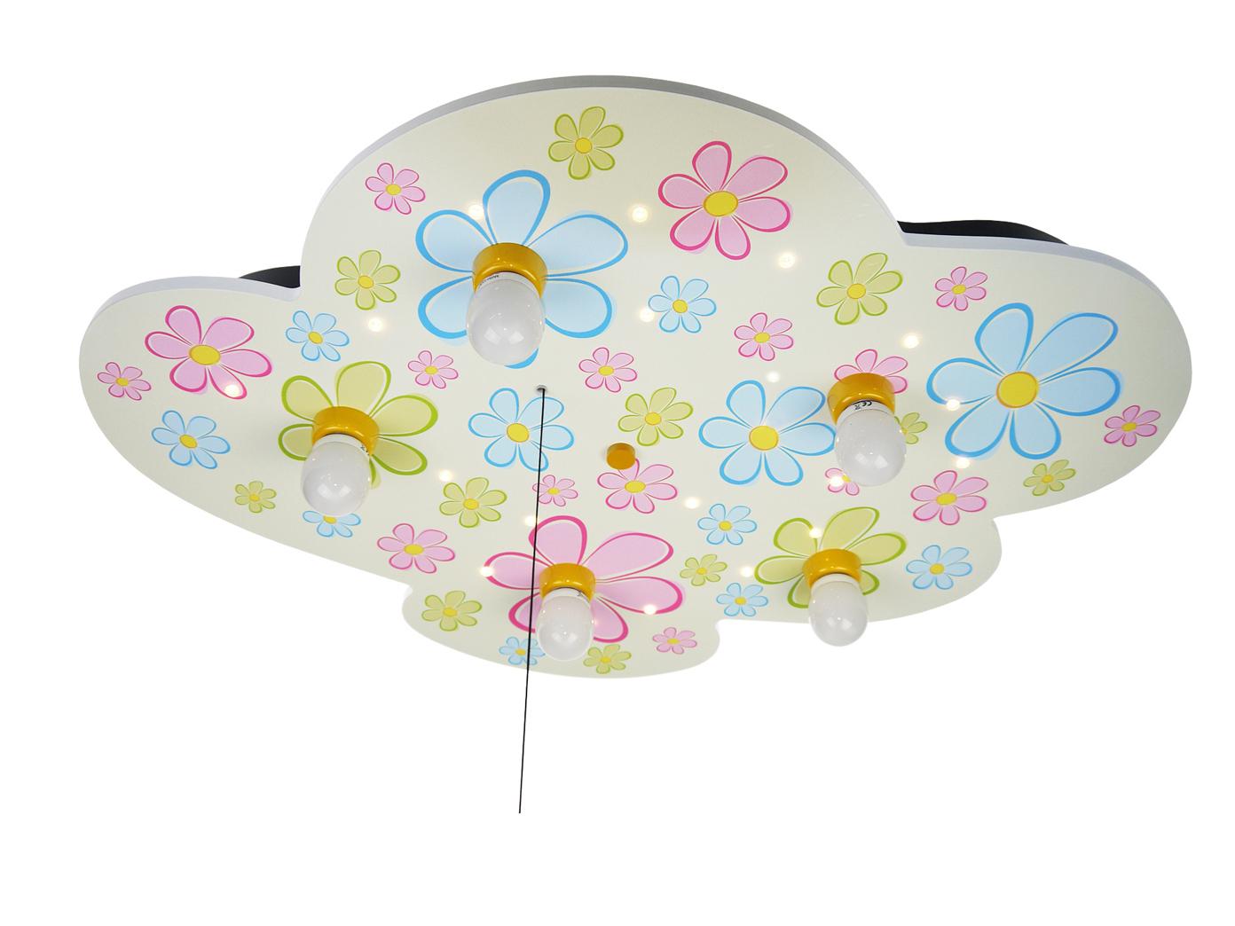 Kinder Deckenleuchte Wolkenlampe mit Zugschalter für LED ...