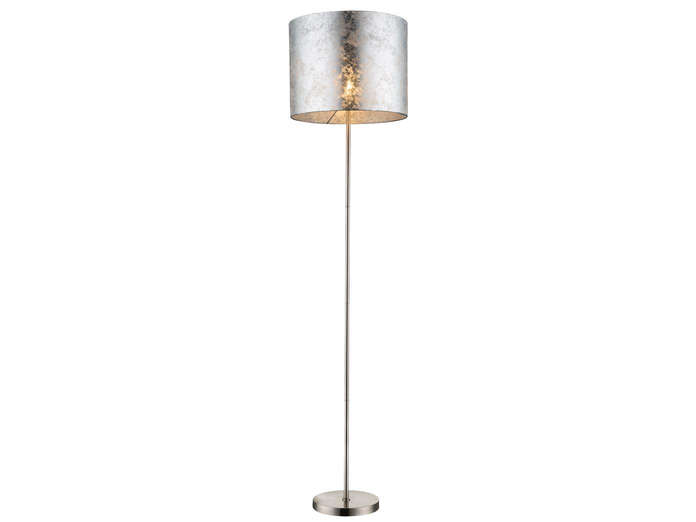 Globo Tischlampe Hockerleuchte Stoffschirm gold Wohnzimmerlampe Tischleuchte