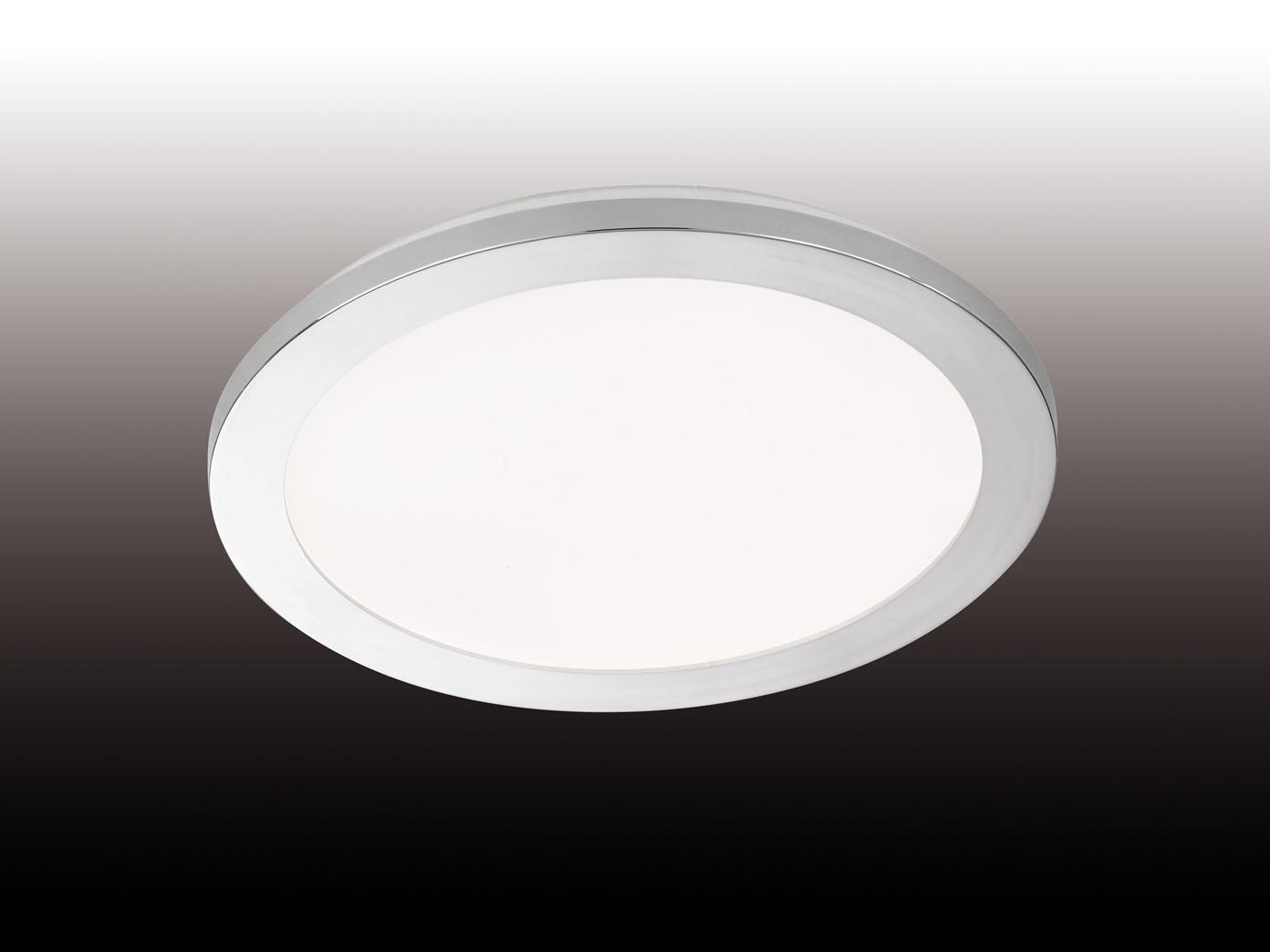 dimmbare led deckenleuchte badezimmerlampe 30cm chrom. Black Bedroom Furniture Sets. Home Design Ideas