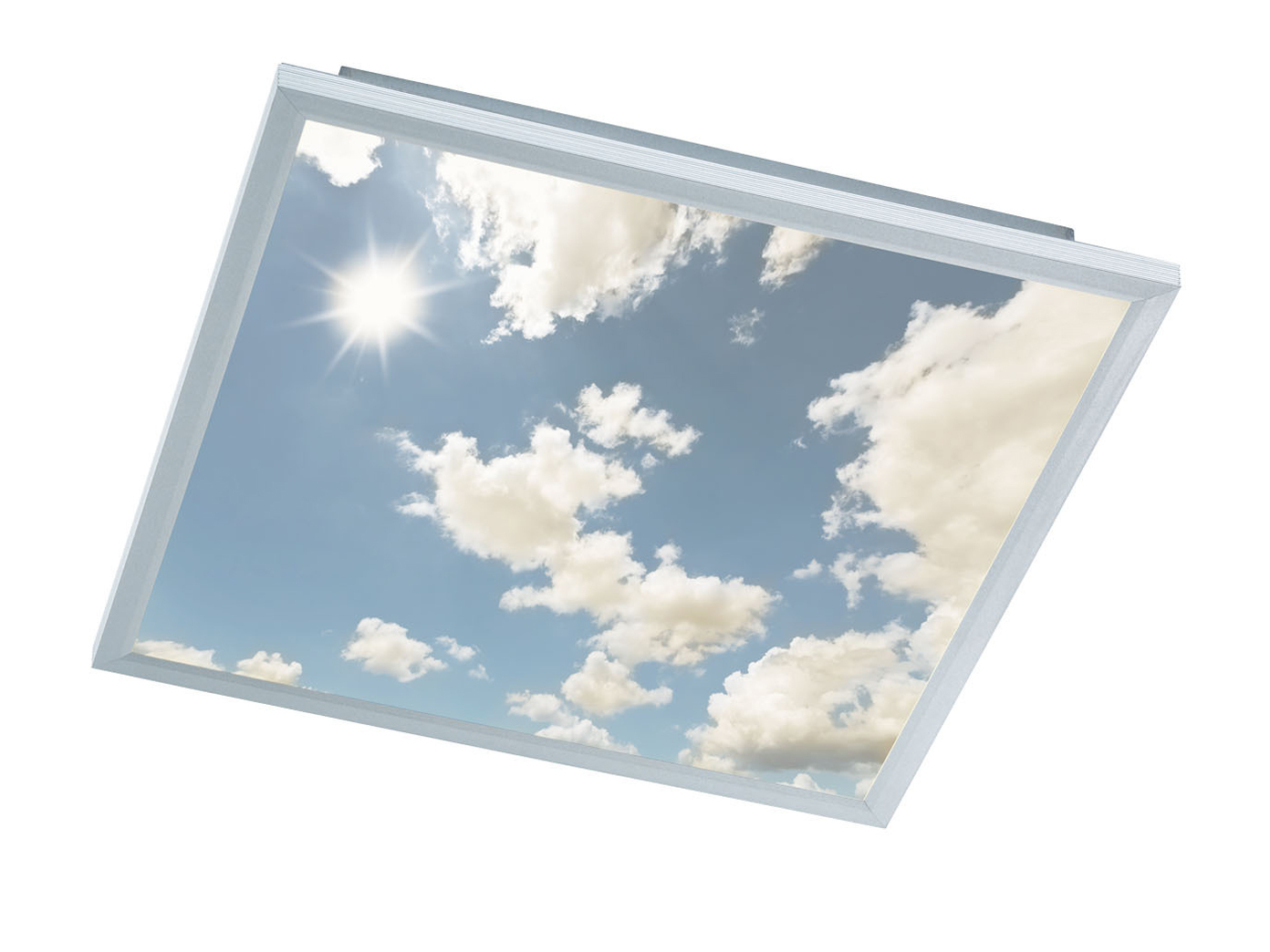 led paneel deckenleuchte 60x60 cm dimmbar mit fernbedienung himmel optik kaufen bei. Black Bedroom Furniture Sets. Home Design Ideas