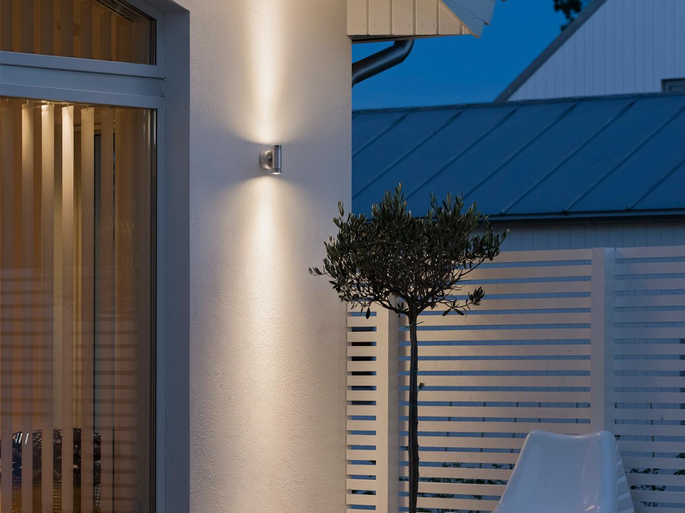 Außenwandleuchte MONZA, Up Down-light, massives Alu, H    12 cm, IP54 1f8f19
