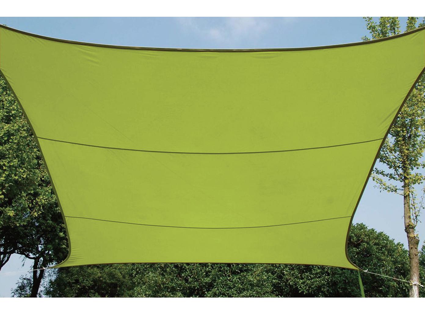 Wasserabweisend Cremefarbe Sonnensegel Regenschutz PEREL 360 x 360 cm