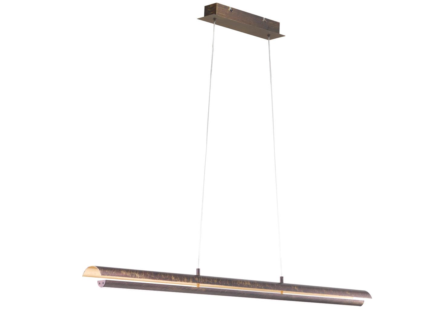 design led pendelleuchte antik braun messing gef rbt. Black Bedroom Furniture Sets. Home Design Ideas