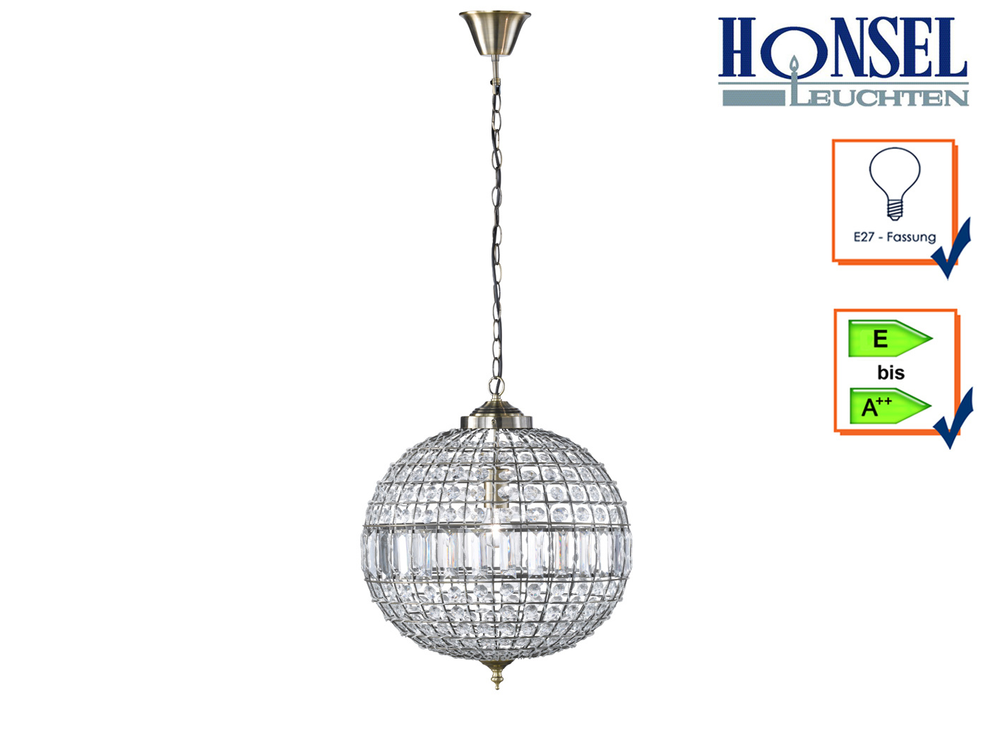 Design Pendelleuchte Altmessing Acrylglas O 45cm Deckenbeleuchtung Wohnzimmer