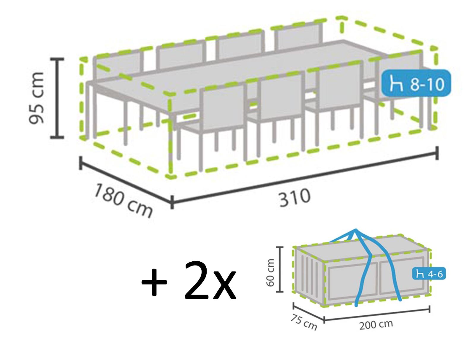 310x180cm Gartenmobel Fur Abdeckung Xxl Set Schutzhullen