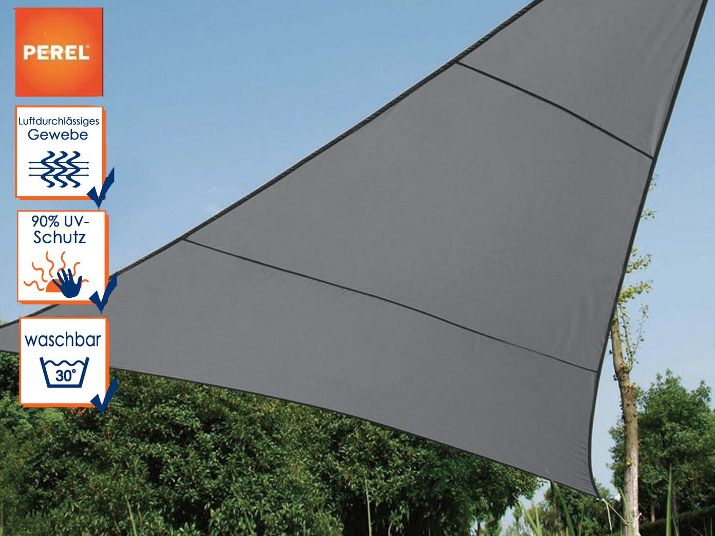sonnensegel dreieck dunkelgrau 10 8 m sonnenschutz f r. Black Bedroom Furniture Sets. Home Design Ideas