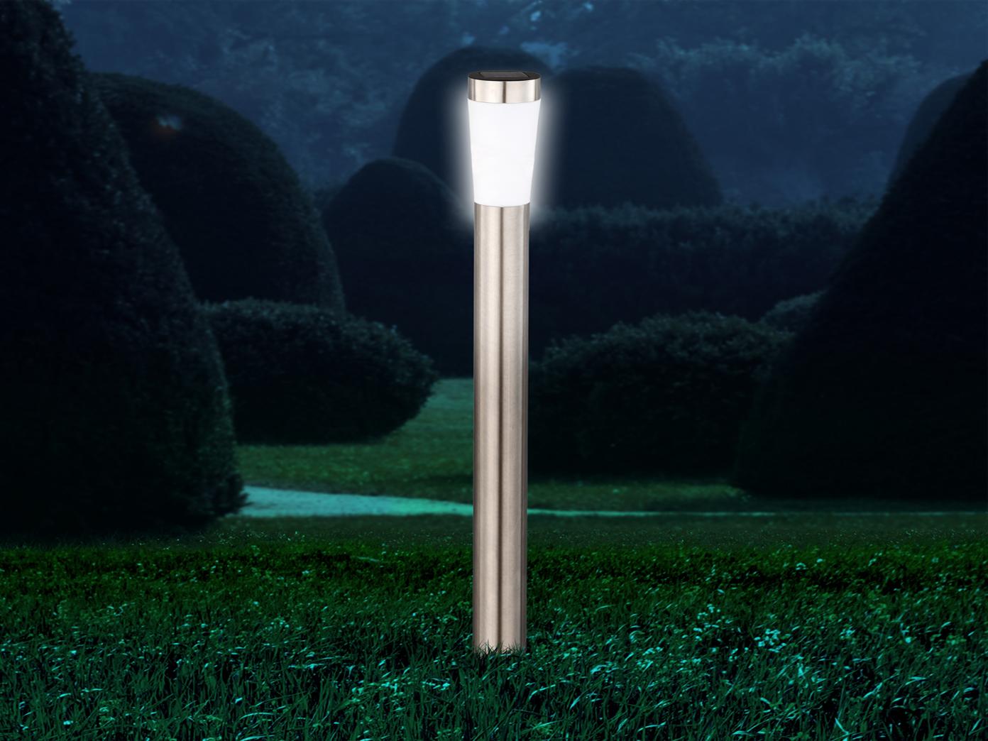 Led Erdspieß Solarlampe Für Den Garten Wegeleuchte Aus Edelstahl