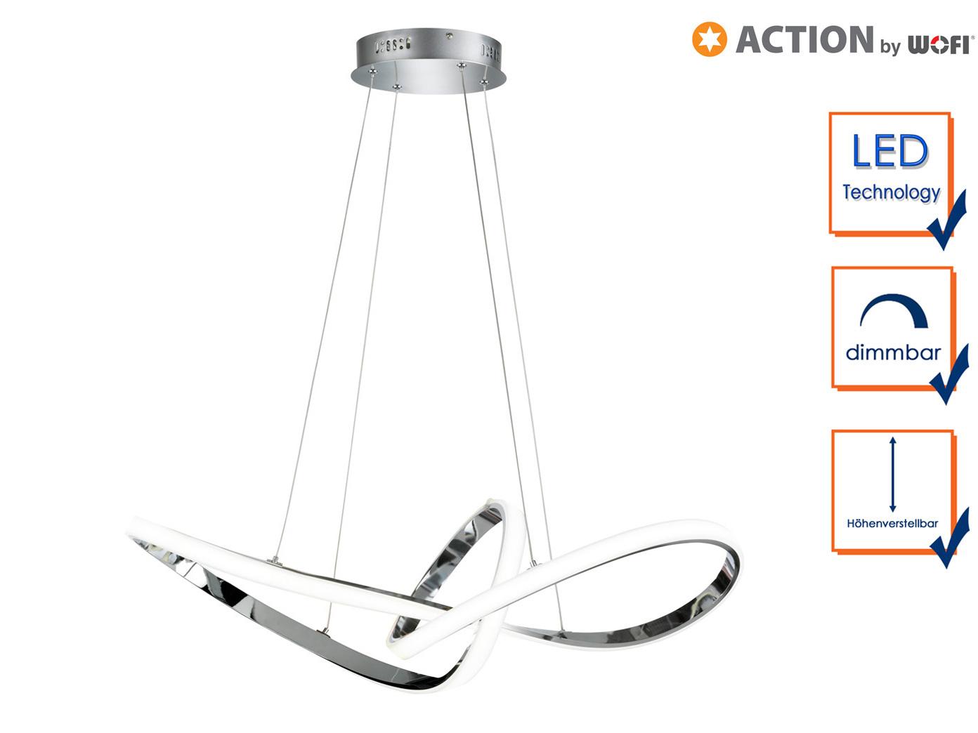 Ausgefallene Pendelleuchte LED dimmbar Chrom Designer Deckenleuchten ...