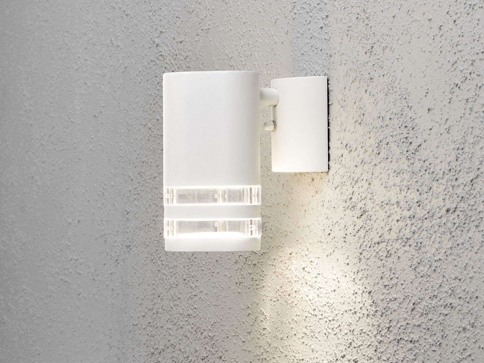 IP44 GU10 2er-Set Aluminium Wandleuchte MODENA weiß Höhe 13,5 cm