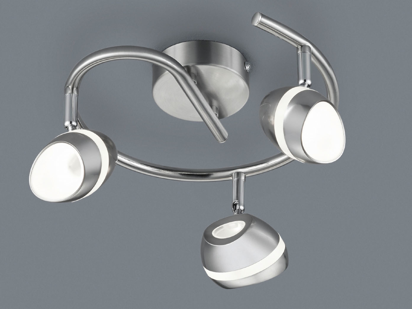 2er Set Set Set LED Deckenstrahler Rondell SHARK Spots schwenkbar, Retro Deckenlampe 9915d9