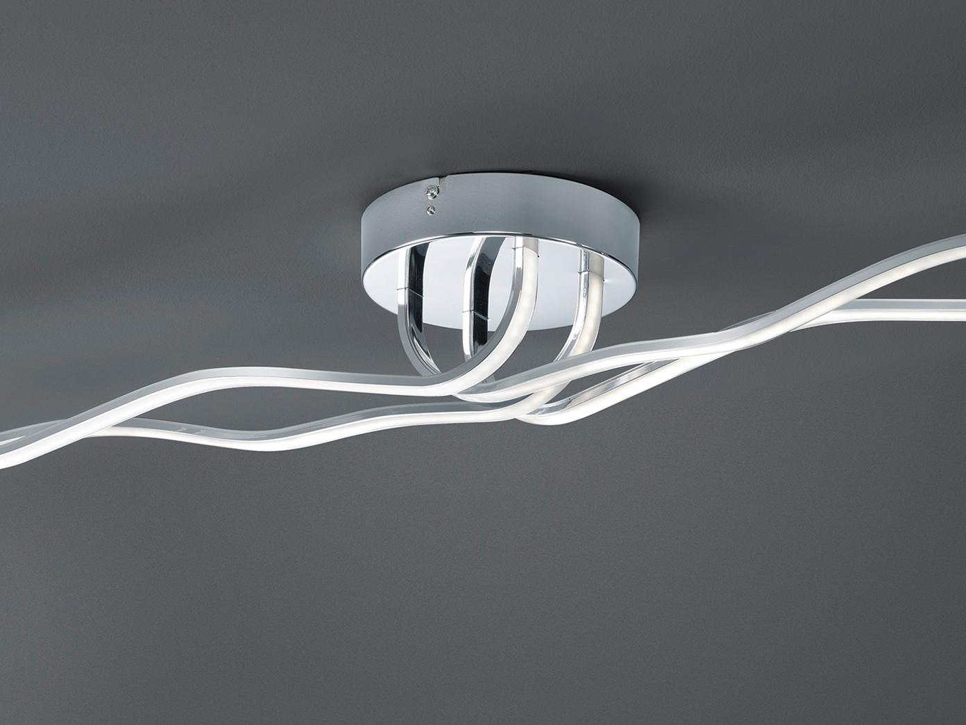 Trio Design LED Deckenleuchte CATOKI Chrom dimmbar, Deckenlampe ...