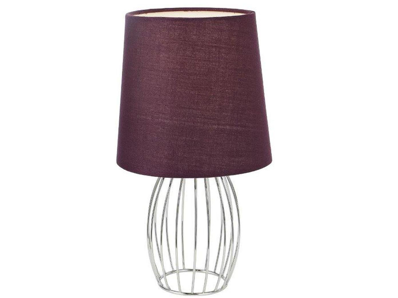 design tischleuchte modern mit led textilschirm lila. Black Bedroom Furniture Sets. Home Design Ideas