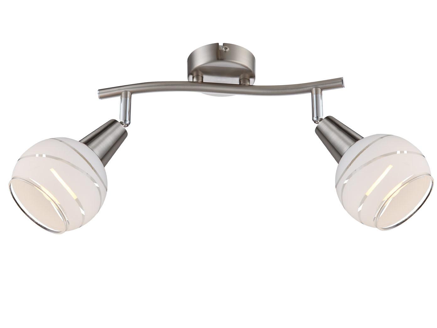 Deckenleuchte Wohnzimmer Globo Deckenlampe Strahler 4 flammig Spots Glasschirm
