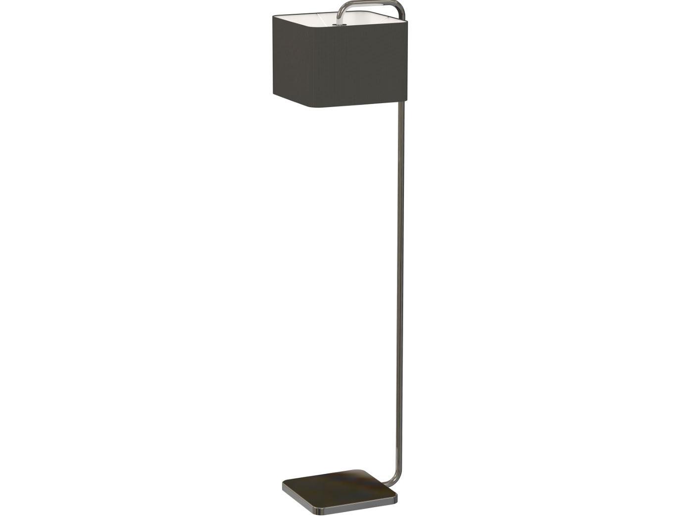 Moderne Stehlampe Cube Mit Dimmbare Led Eckiger Stoffschirm