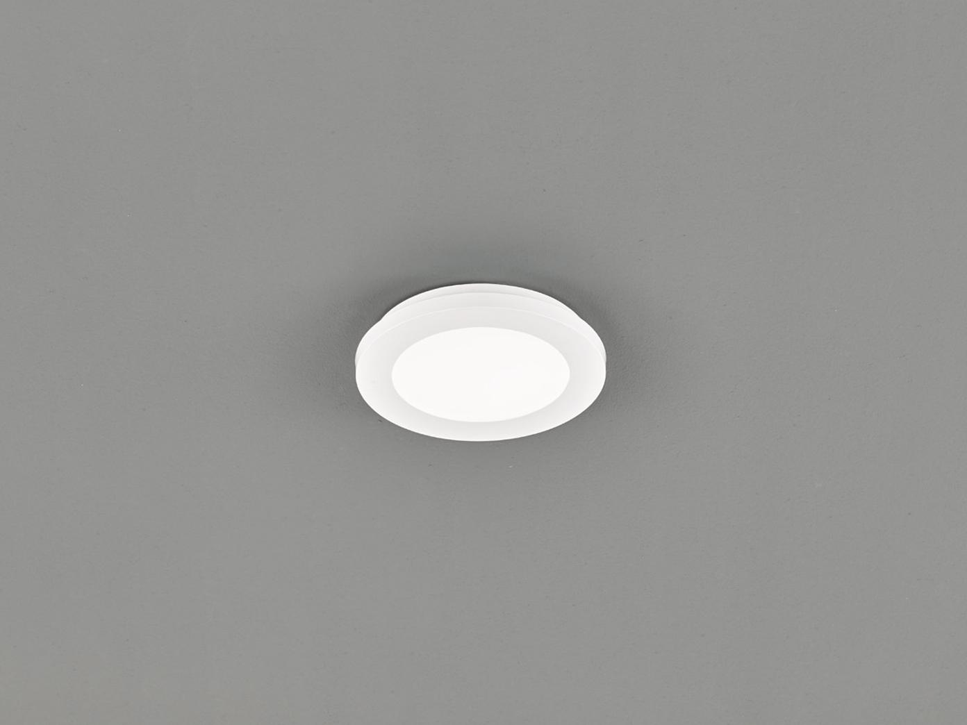 Kleine LED Deckenleuchte CAMILLUS flache Badezimmerlampe Rund Ø20cm in Weiß  IP20