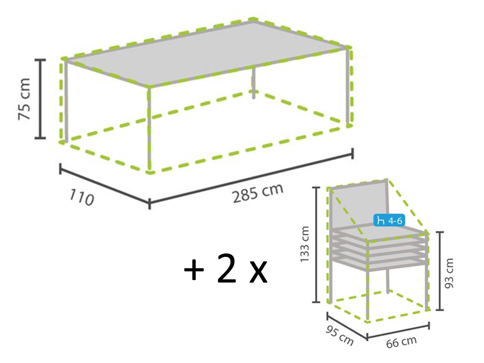 Gartenmobel Set 1x Hulle Fur Tisch Max 280cm 2x Schutz Fur 4 6