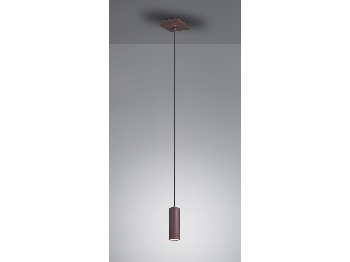 LED Pendelleuchte für Wohnzimmer, Schlafzimmer, Küche & Flur, Metall  rostfarbig