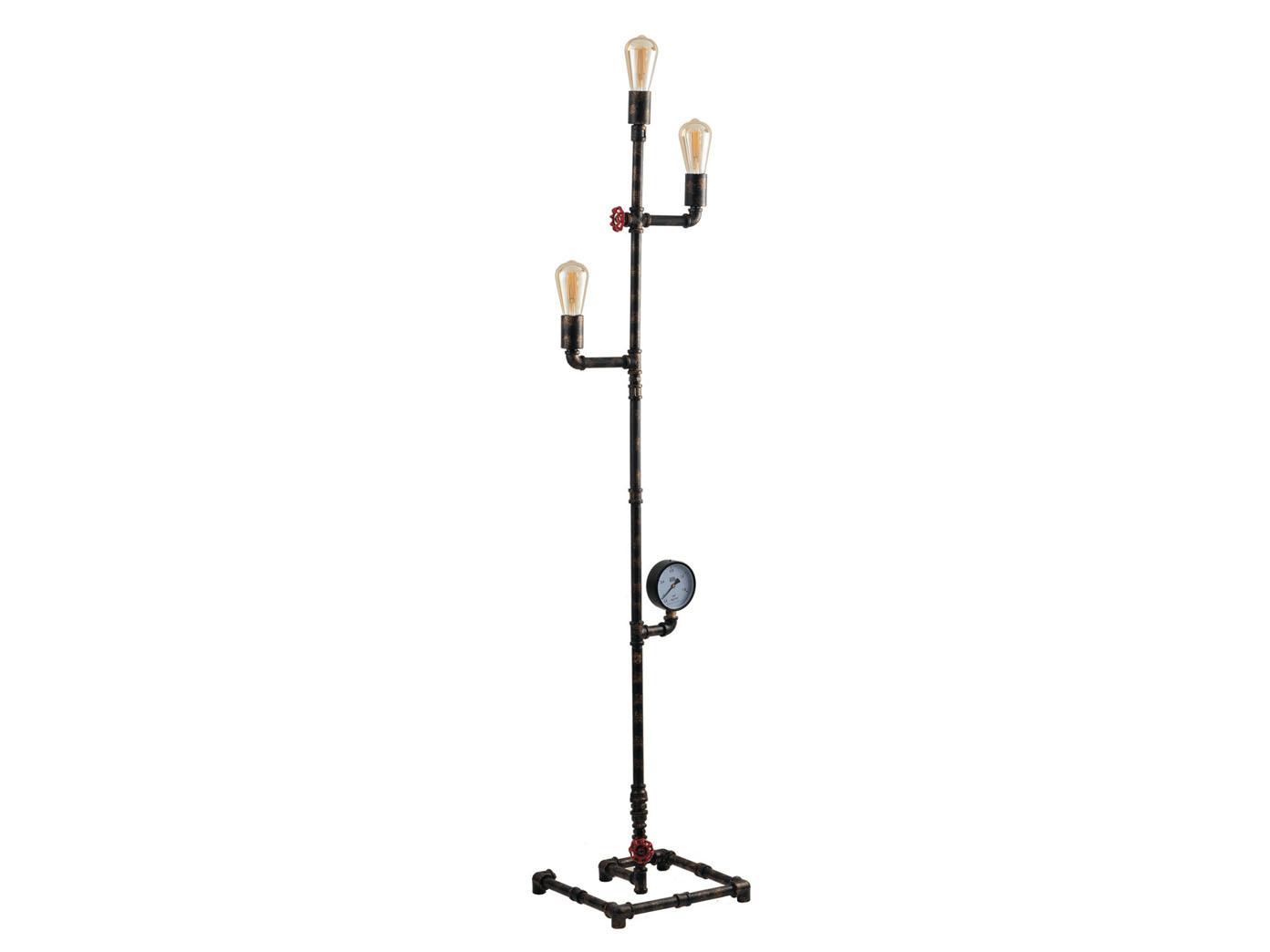 Aussergewohnliche Led Stehlampe Industrial Design Mit Wasserrohr