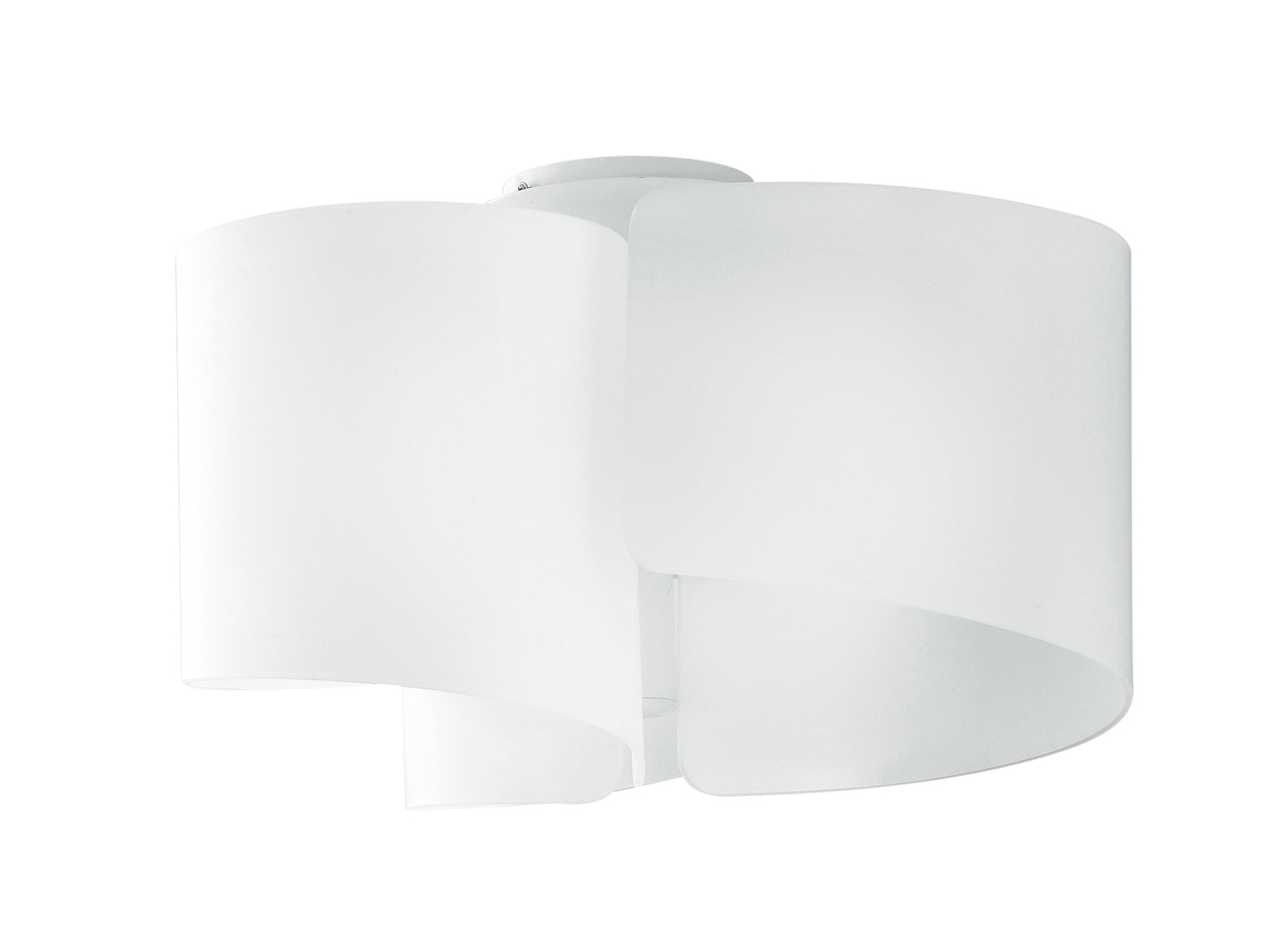 Design Deckenleuchte Imagine Lampenschirm Glas Weiss O47cm
