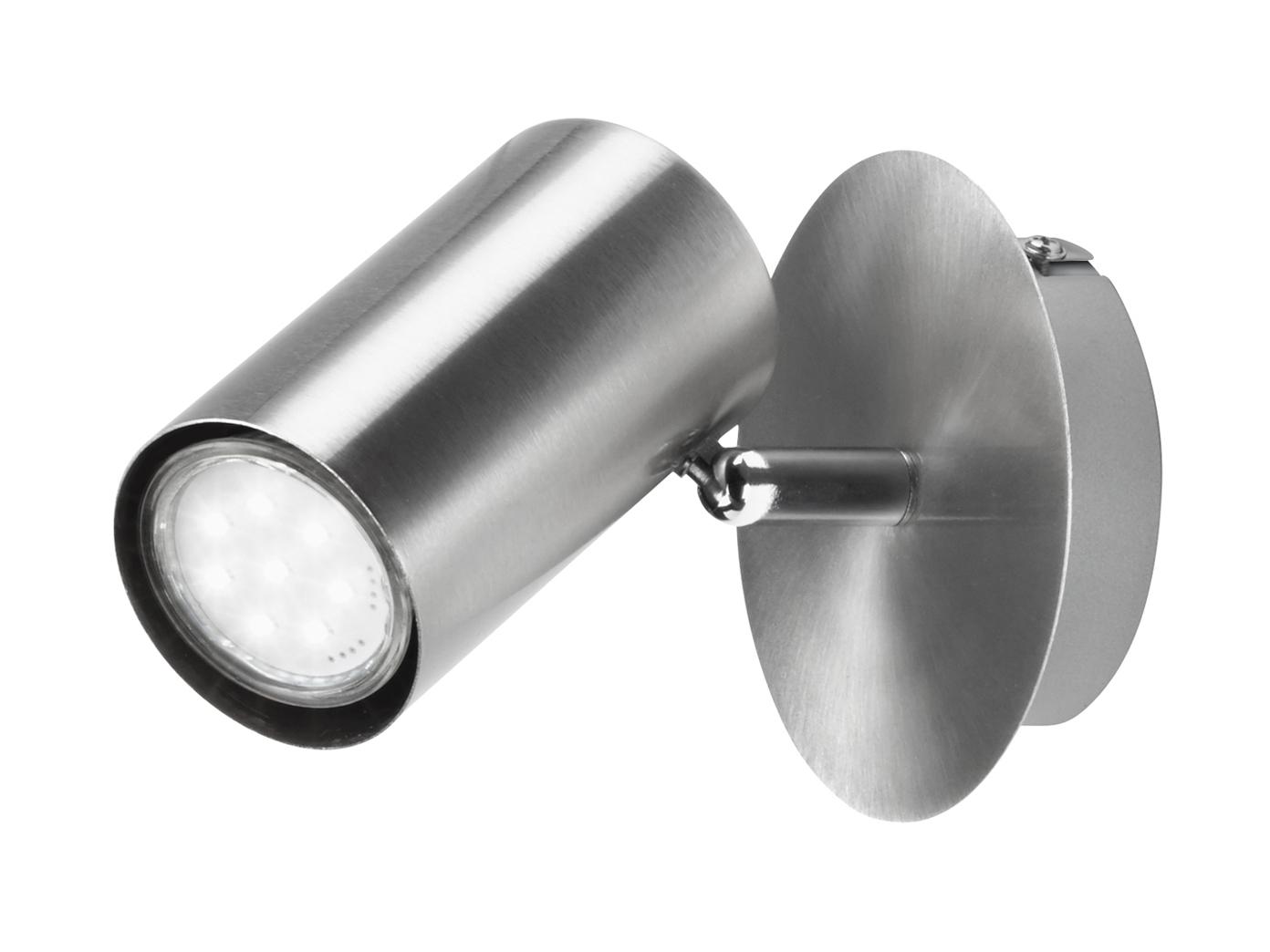 LED Wandspot Nickel matt Spot schwenk- + drehbar - Wandleuchte fürs  Schlafzimmer