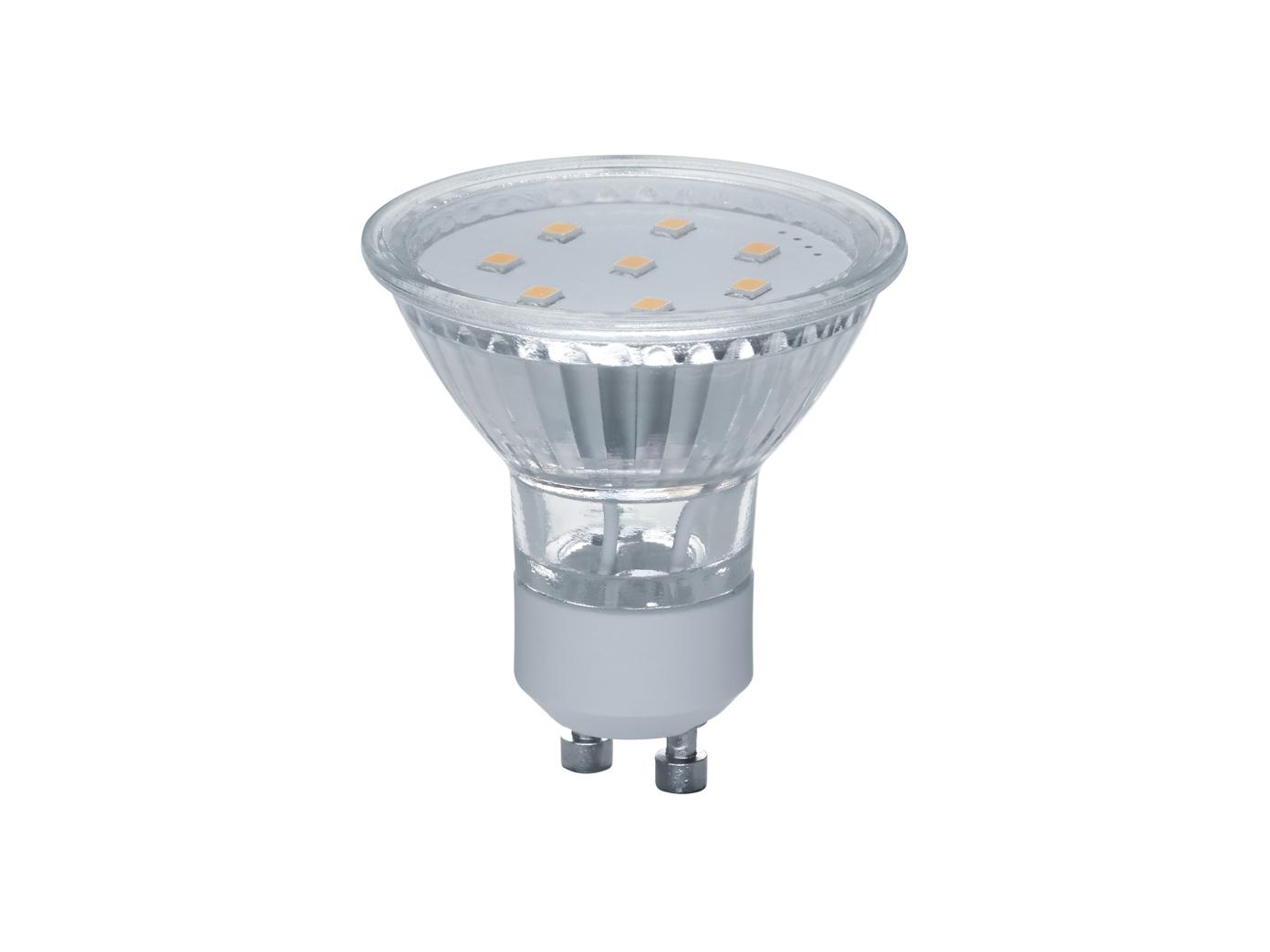 LED Leuchtmittel mit GU10-Fassung /& Switch Dimmer 400lm warmweiß aus Glas 5W
