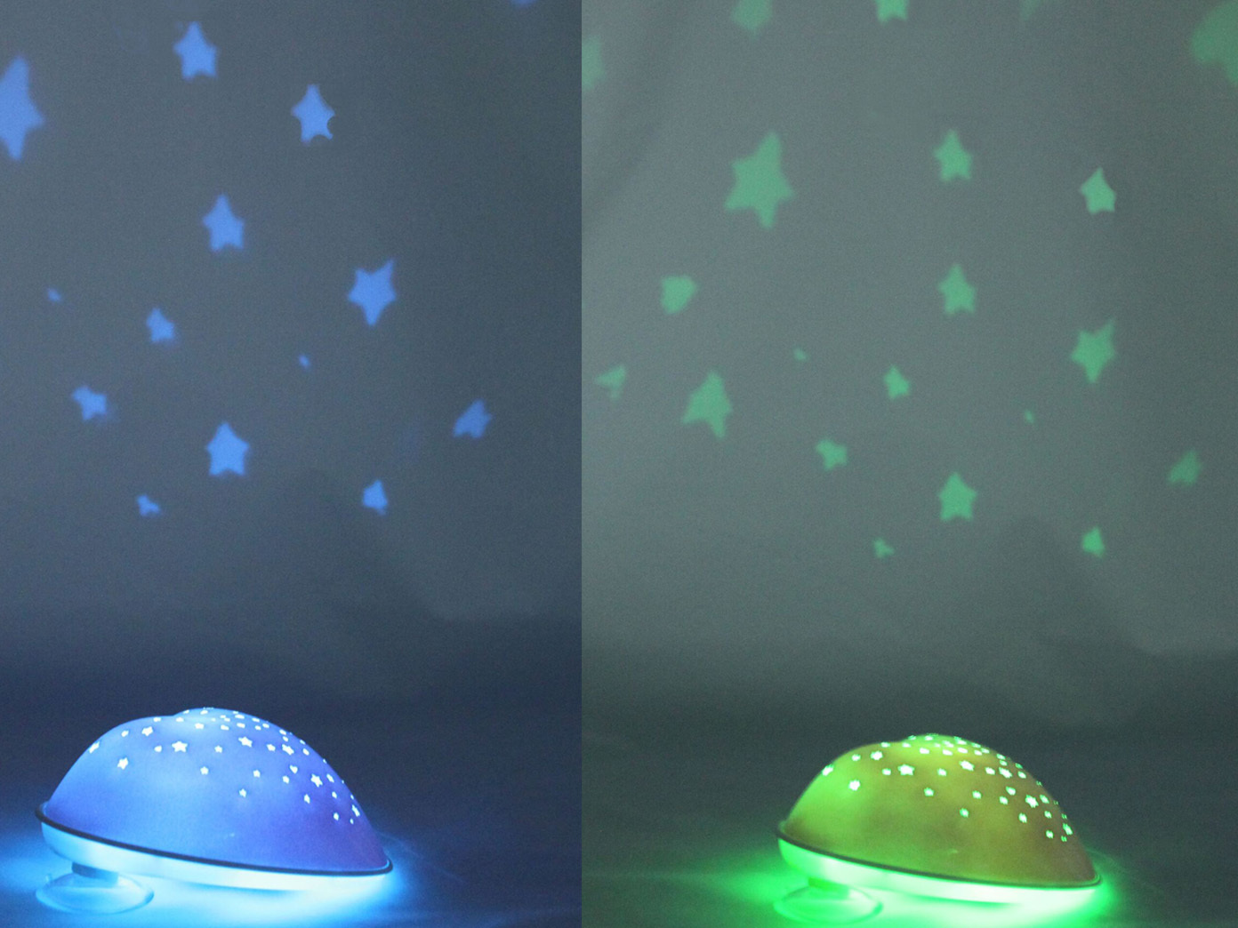 2er Set Nachtlicht Kinderzimmer rosa SOLAR HEART projiziert Herzen & Sterne  NEU