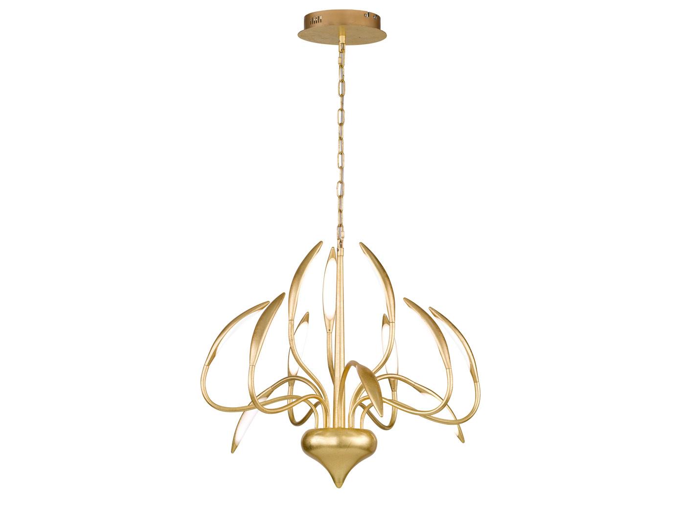 Kronleuchter Modern Mit Schirm ~ Dimmbare led pendelleuchte goldfarbig kronleuchter modern esstisch